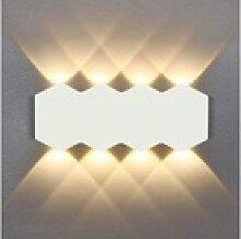 ZMH Wandleuchte LED Wandlampe Innen Modern Up Down