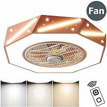 ZMLG Deckenlampe mit Ventilator und Fernbedienung,