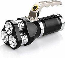 Zmsdt LED-Taschenlampe Scheinwerfer IP65