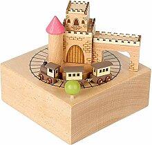 ZNHL Holz-Musik-Box Crafts Dekoration