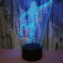 ZNNBNG 3D Lampe Led Lampe Touch Fußball 3D