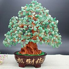 ZNYLX Skulptur Crystal Money Tree Bonsai Stil Feng