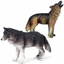 ZNYLX Skulptur, lebensechte Wildtiere, Grauer