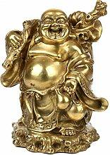 ZNYLX Skulptur Licht, Feng Shui, Maitreya Kupfer
