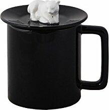 Znzbzt Becher Kaffee Tassen mit Deckel Schöne Keramik Schale Schlicht Schale Büro Trinkbecher