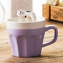 Znzbzt Cute Cartoon Keramik Becher stereo 猫