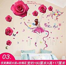 Znzbzt Einladende selbstklebende Tapete Wand Wand verzierende Ideen, Wandmalereien, Mädchen