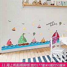 Znzbzt Entfernen Sie die Sockel der Wand Dekoration Wall Sticker Ecke fries Poster Tapete selbstklebende, Segeln