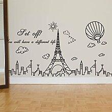 Znzbzt kreativ Eiffelturm selbstklebende Tapete