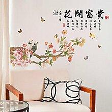 Znzbzt kreativ im chinesischen Stil Schlafzimmer selbstklebende Tapete Poster office Unternehmen Wandmalereien Wandhalterung entfernen