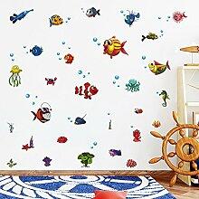 Znzbzt Marine Fish cartoon Sticker Badezimmer Wand