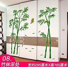 Znzbzt Tapete selbstklebende Schlafzimmer Tapeten und gemütliches Wohnheim Schrank Tür Ideen im Art-déco-florale Schrankwand eingerichtet montieren