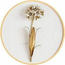 ZO MEBER Dekorative Malerei Goldene Blume