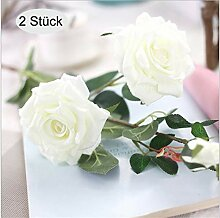 ZOCONE Kunstblumen, 2 Stück Künstliche Rose,