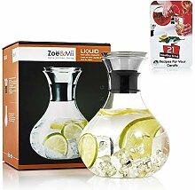 Zoë&Mii Premium 1.5L Glaskaraffe mit