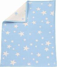 Zöllner Babydecke Sterne 75x100 cm hellblau