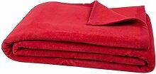 """ZOLLNER® trendige Kuscheldecke / Wolldecke / Wohndecke / Tagesdecke rot 150x200 cm, in weiteren Farben und Größen erhältlich, vom Hotelwäschespezialisten, Serie """"Colorado"""