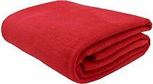 Zollner Wolldecke rot 150x200 cm (weitere Farben,