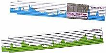 Zollstock KÖLN Skyline Gliedermaßstab, 2m Holz-Maßstab für Hobby Heim- und Handwerker, Geschenkidee für Kölner und Köln Fans zum Umzug Einzug Geburtstag Weihnachten von 44spaces