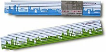 Zollstock STUTTGART Skyline grün/blau Gliedermaßstab, 2m Holz-Maßstab für Hobby Heim- und Handwerker, Geschenkidee Gastgeschenk Einladung Umzug Einzug Geburtstag, für Stuttgarter und Stuttgart Fans von 44spaces