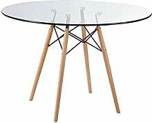 ZOLTA Glastisch Tischplatte Runder Esstisch