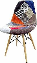 Zolta Patchwork Stuhl Modern Stoff Esszimmerstuhl