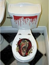 Zombie Toilettendeckel Aufkleber