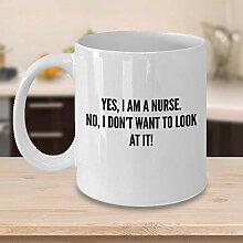 ZonaloDutt Lustige Krankenschwester Kaffee-Haferl
