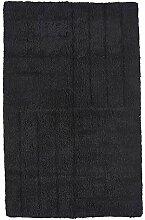 Zone Badematte 80 x 50 cm Baumwolle schwarz