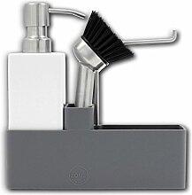 ZONE Geschirr-SPÜLSET, Porzellan mit Silikon, grau-weiss, ca. 20,5 cm H | ZO-755100 | 5709413094761