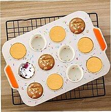 Zonfer 12-Cup-silikon-Muffin-Kuchen-Form-Desserts
