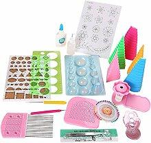 Zonfer 19pcs / Set Papier Quilling Kit