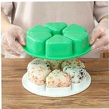 Zonfer 1pc 6 Holes Sushi Mold Onigiri