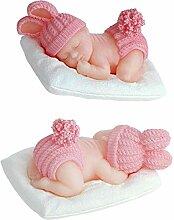 Zonfer 3D Schlafen Baby-Silikon-Form Dressed