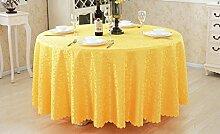 Zongyuan hyl Tischdecke Tischmatten runde quadratische Tischdecken (Farbe : Gold-gelb, größe : Round320cm)