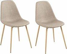 Zons 2Stück Stühle Skandinavisches Design