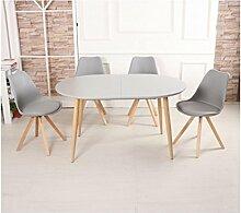 Zons 6 Stühle, skandinavisch, mit Holzbeinen, Grau