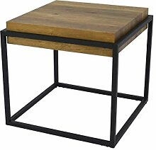 ZONS Couchtisch Cube Industrial Style Holz und