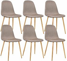 Zons Set 6Stühle Design Metall skandinavischen