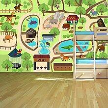 Zoo Tiere Wandbild Landkarten Foto-Tapete Kinderzimmer Kinderzimmer Wohnkultur Erhältlich in 8 Größen X-Groß Digital
