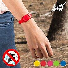 ZOOM Mückenschutz Insektenschutz Armband Mückenvertreiber Insektenvertreiber (Blau)