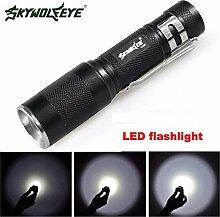 Zoombaren Taschenlampe, happytop 3000LM XM-L