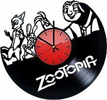 Zootopia Wanduhr aus Vinyl – originelle