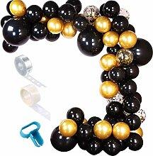 ZOOYOO Ballon-Girlande schwarz/Gold