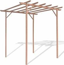 Zora Walter Pergola aus Kunststoff-Holz, 2 x 2 x 2