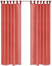 Zora Walter Voile-Gardinen 2 Stk. 140 x 245 cm Rot