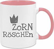 Zornröschen - hochwertiger Keramik-Kaffeebecher -