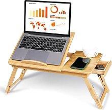 Zoternen Betttisch für Laptop, Bambus, klappbar,