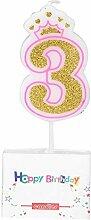 Zouminy Geburtstagstorte Kerze Thema Party Krone