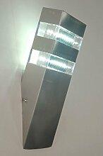 Zoxx Außenleuchte Modern Kunststoff Plexiglas Stahl Rostbeständig
